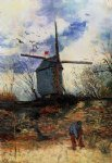 le moulin de la galette v by vincent van gogh watercolor paintings