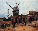 le moulin de la galette by vincent van gogh watercolor paintings