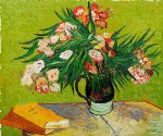 majolica jar with branches of oleander 1888 by vincent van gogh paintings