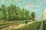 vincent van gogh man with spade in a suburb of paris painting 23543