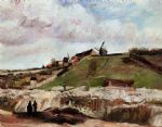 vincent van gogh montmartre the quarry and windmills painting