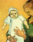 vincent van gogh mother roulin with her baby v painting 23554
