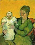 vincent van gogh mother roulin with her baby painting 23555