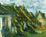 vincent van gogh old cottages chaponval painting-23561