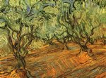 vincent van gogh olive grove bright blue sky v painting 23562