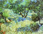 vincent van gogh olive grove bright blue sky painting 23563