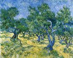 gallery art - olive grove ii by vincent van gogh