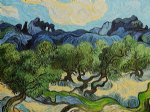 vincent van gogh olive trees with the alpilles in the background ii painting