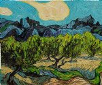 vincent van gogh olive trees with the alpilles in the background iii painting 23575