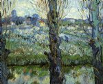 vincent van gogh orchard in bloom with poplars painting