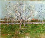 orchard in blossom by vincent van gogh painting