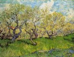 vincent van gogh orchard in blossom vi painting