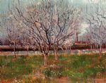 vincent van gogh orchard in blossom painting