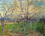 vincent van gogh orchard with blossoming apricot trees painting 23587