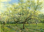 vincent van gogh orchard with blossoming plum trees painting 23588