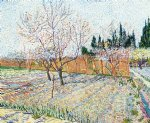 vincent van gogh orchard with peach trees in blossom painting 23589