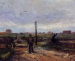 vincent van gogh outskirts of paris painting