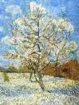 vincent van gogh peach trees in blossom painting-23593