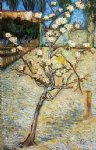 vincent van gogh pear tree in blossom painting-23594