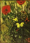 vincent van gogh poppies and buttreflies painting 23626