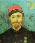 vincent van gogh portrait of milliet second lieutnant of the zouaves painting 23650