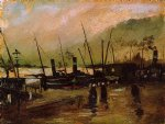vincent van gogh quayside with ships in antwerp painting 23668