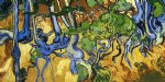 vincent van gogh roots and tree trunks painting-23678