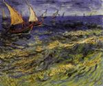 vincent van gogh seascape at saintes maries 2 painting