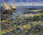 vincent van gogh seascape at saintes painting 23683
