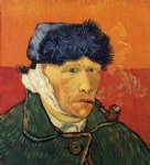vincent van gogh self portrait with bandaged ear and pipe painting-23695