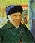 vincent van gogh self portrait with bandaged ear painting-23696