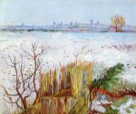 vincent van gogh snowy landscape with arles in the background painting 23705
