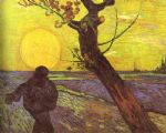vincent van gogh sower with setting sun after millet painting