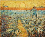 vincent van gogh original paintings - sower with setting sun ii by vincent van gogh