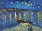 vincent van gogh starry night over the rhone 2 paintings