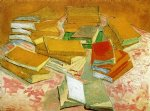 french oil paintings - still life french novels by vincent van gogh