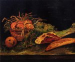 vincent van gogh still life with apples meat and a roll painting