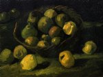 still life with basket of apples by vincent van gogh painting