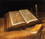 vincent van gogh still life with bible painting 23724