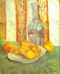 vincent van gogh still life with bottle and lemons on a plate painting 82805