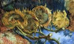 flowers posters - still life with four sunflowers by vincent van gogh