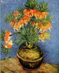 vincent van gogh still life with imperial crowns in a bronze vase painting 82829