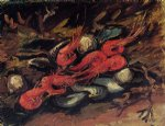vincent van gogh still life with mussels and shrimp painting 23737