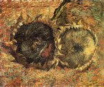 flowers posters - still life with two sunflowers v by vincent van gogh
