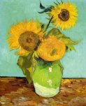 flowers posters - sunflowers ii by vincent van gogh