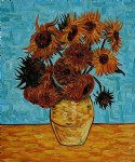 flowers posters - sunflowers iv by vincent van gogh