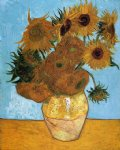 flowers posters - sunflowers vi by vincent van gogh