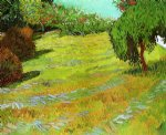 sunny lawn in a public park by vincent van gogh painting
