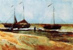 the beach at scheveningen in calm weather by vincent van gogh painting