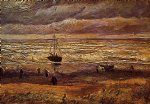 the beach at scheveningen by vincent van gogh painting